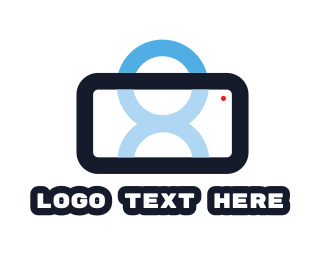 Mobile Phone - Smartphone Person logo design