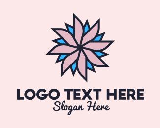 Textile Design - Flower Shop Decorative logo design