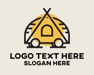 Scouting - Minimalist Camping Tent logo design