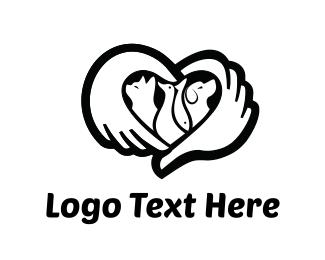 Pet - Caring Hands Pets logo design