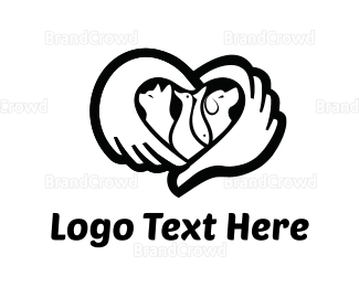 Hand - Caring Hands Pets logo design