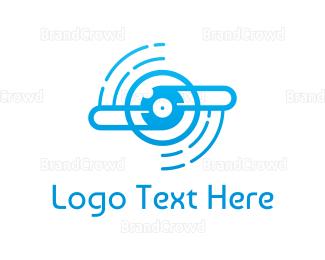 Cd - Blue Propeller Outline logo design