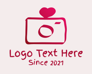 Dslr Camera - Love Heart Wedding Photography  logo design