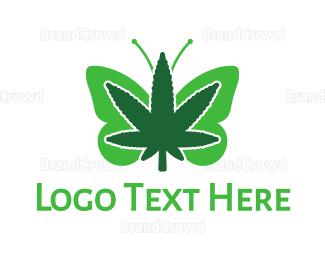 Alternative Medicine - Butterfly Cannabis logo design