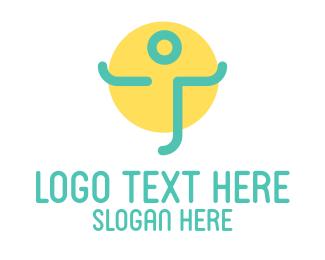 Abstract Human Person Logo