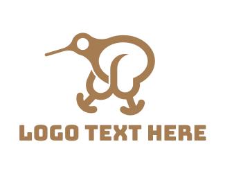 Little - Kiwi Bird logo design