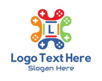 Twitch - Multicolor Gamer Joystick Letter logo design