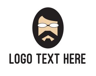 Burning Man - Cool Hippie  logo design