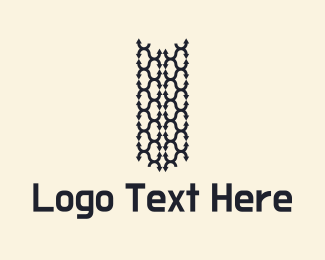 Trucking - Tire Tracks Logo logo design