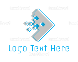 """Digital Pixel Arrow"" by LogoBrainstorm"