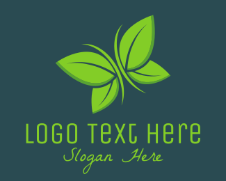Cleanser - Leaves Butterfly logo design