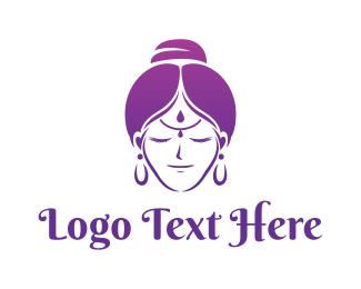 Hindu - Indian Woman logo design