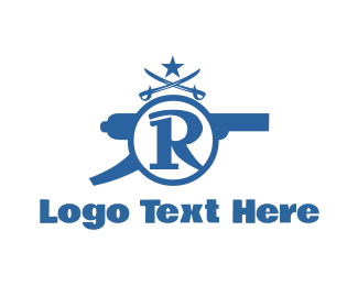 Cannon - Cannon Letter R logo design
