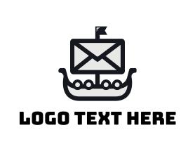Communications - Sail Mail logo design