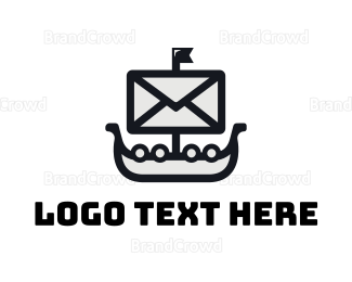 Communicate - Sail Mail logo design