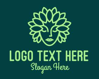 Elf - Leaf Goddess Mascot logo design