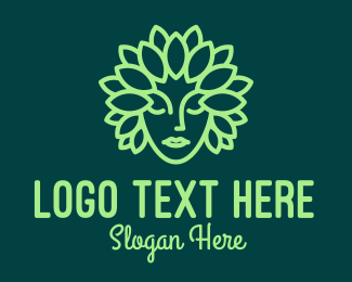 Crown - Leaf Goddess Mascot logo design