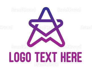 Star - Gradient Star A logo design