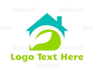 Cleaner - Leaf House logo design