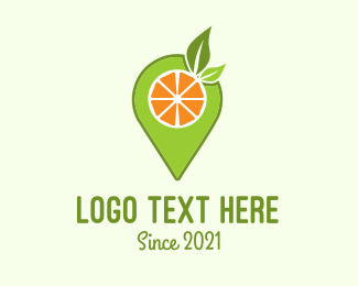 Fruit Store - Fruit Juice Pin Locator logo design