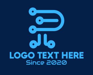Letter P - Digital Letter P logo design