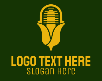 Live - Yellow Corn Radio  logo design