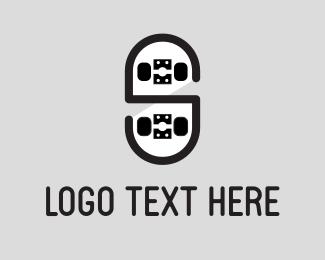 Skateboard - Black Skateboard logo design