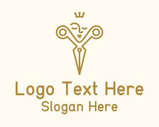 Crown - Golden King Barbershop logo design