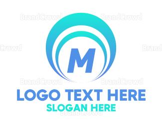 Current - Blue Seashell Lettermark logo design