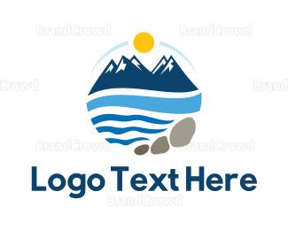 Resort - Blue Mountain Resort logo design