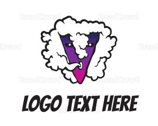 Activity - Cloud Gradient Purple V logo design
