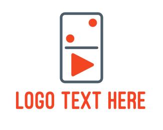 Two - Domino Player logo design