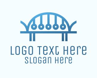 Infrastructure - Digital Blue Bridge logo design