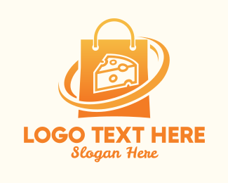 Yellow Cheese - Cheese Shop Bag logo design