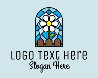 Botanical Product - Stained Glass Flower Garden logo design