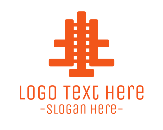 Orange Abstract Film Logo