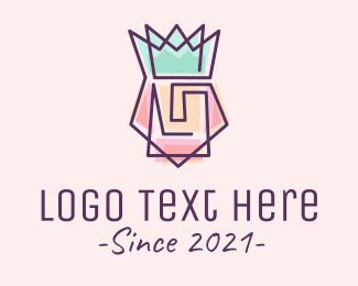 King - Colorful Monarch Monoline logo design