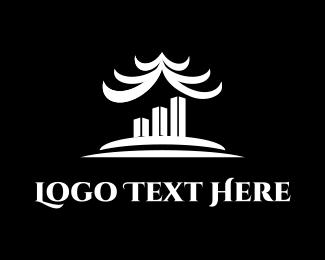 Temple - Oriental Building logo design