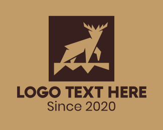 Hunt - Modern Forest Deer logo design