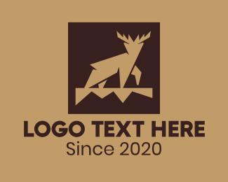 Forest - Brown Forest Deer logo design