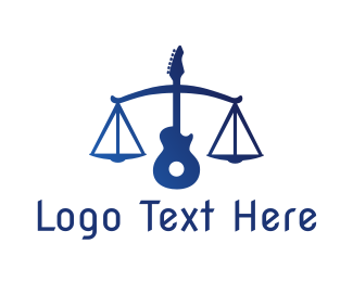 Acoustic - Legal Music Guitar Scales logo design