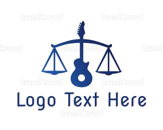 Banjo - Legal Guitar logo design
