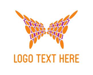 Spot - Orange Abstract Butterfly logo design
