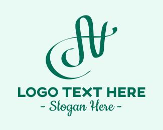 An - Fancy A & N Monogram  logo design