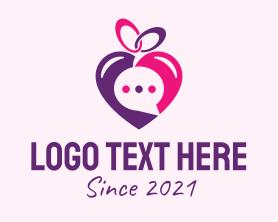 Date - Online Dating Love Message logo design