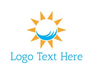 Sunscreen - Sunny Beach logo design
