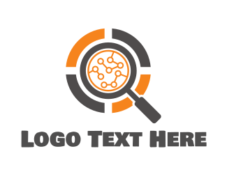 Bit - Search Magnifying Glass logo design