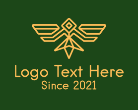 Authority - Military Bird Badge logo design