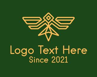 Minimalist - Military Bird Badge logo design