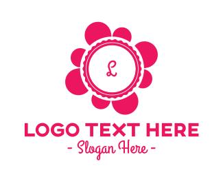 Pink Flower - Pink Flower Lettermark logo design